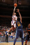 Denver Nuggets v New York Knicks: Wilson Chandler and Nene Photographic Print by Nathaniel S. Butler