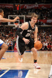 San Antonio Spurs v Los Angeles Clippers: Tiago Splitter Photographic Print by Andrew Bernstein