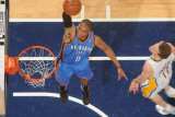 Oklahoma City Thunder v Indiana Pacers: Russell Westbrook and Mike Dunleavy Photographic Print by Ron Hoskins