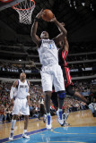 Miami Heat v Dallas Mavericks: Brendan Haywood and Joel Anthony Photographic Print by Glenn James