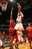 Cleveland Cavaliers v Miami Heat: Dwyane Wade and Antawn Jamison Photographic Print by Victor Baldizon