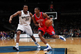 Philadelphia 76ers v Washington Wizards: Thaddeus Young and Trevor Booker Photographic Print by Ned Dishman