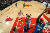 Orlando Magic v Chicago Bulls: Brandon Bass, Dwight Howard, Joakim Noah and Kyle Korver Photographic Print by Gary Dineen