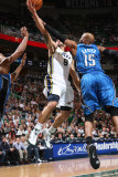 Orlando Magic v Utah Jazz: Deron Williams and Vince Carter Photographic Print by Melissa Majchrzak