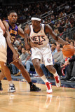 Los Angeles Lakers v New Jersey Nets: Anthony Morrow and Ron Artest Photographic Print by Andrew Bernstein