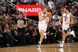 Milwaukee Bucks v Utah Jazz: Andrei Kirilenko and Deron Williams Photographic Print by Melissa Majchrzak