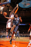 Charlotte Bobcats v New York Knicks: Ronny Turiaf and Boris Diaw Photographic Print by Nathaniel S. Butler