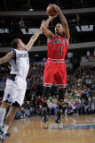 Chicago Bulls v Dallas Mavericks: Derrick Rose and Jose Juan Barea Photographic Print by Glenn James