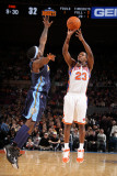 Denver Nuggets v New York Knicks: Toney Douglas and Ty Lawson Photographic Print by Nathaniel S. Butler