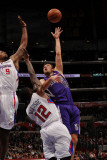 Sacramento Kings v Los Angeles Clippers: Beno Udrih, DeAndre Jordan and Eric Bledsoe Photographic Print by Noah Graham