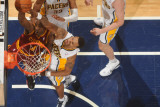Cleveland Cavaliers v Indiana Pacers: Antawn Jamison and Brandon Rush Photographic Print by Ron Hoskins