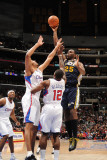 Utah Jazz v Los Angeles Clippers: Al Jefferson, Brian Cook and Eric Bledsoe Photographic Print by Noah Graham