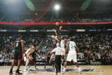 Miami Heat v Utah Jazz: Al Jefferson and Zydrunas Ilgauskas Photographic Print by Melissa Majchrzak