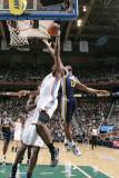 Oklahoma City Thunder v Utah Jazz: Ronnie Price and James Harden Photographic Print by Melissa Majchrzak