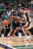 Milwaukee Bucks v Utah Jazz: Gordon Hayward, Chris Douglas-Matthews Photographic Print by Melissa Majchrzak