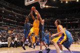 Washington Wizards v Los Angeles Lakers: Kobe Bryant, Al Thornton and JaVale McGee Photographic Print by Noah Graham