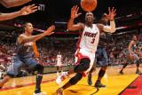 Charlotte Bobcats v Miami Heat: Dwyane Wade Photographic Print by Victor Baldizon