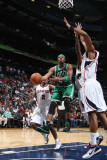 Boston Celtics v Atlanta Hawks: Paul Pierce and Al Horford Photographic Print by Scott Cunningham