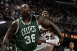 Boston Celtics v Cleveland Cavaliers: Shaquille O'Neal and J.J. Hickson Photographic Print by David Liam Kyle