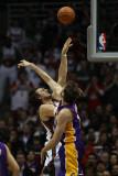 Los Angeles Lakers v Milwaukee Bucks: Andrew Bogut and Pau Gasol Photographic Print by Jonathan Daniel