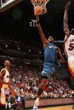 Washington Wizards v Miami Heat: Andray Blatche and Joel Anthony Photographic Print by Victor Baldizon