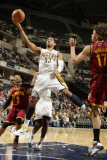 Cleveland Cavaliers v Indiana Pacers: Danny Granger anderson Varejao and Mo Williams Photographic Print by Ron Hoskins