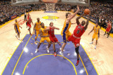 Chicago Bulls v Los Angeles Lakers: Luol Deng and Pau Gasol Photographic Print by Andrew Bernstein
