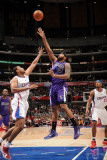 Sacramento Kings v Los Angeles Clippers: DeMarcus Cousins and Jarron Collins Photographic Print by Noah Graham