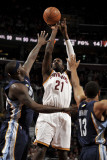 Memphis Grizzlies v Cleveland Cavaliers: J.J. Hickson, Zach Randolph and Xavier Henry Photographic Print by David Liam Kyle
