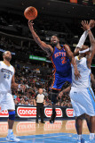 New York Knicks v Denver Nuggets: Raymond Felton and Al Harrington Photographic Print by Garrett Ellwood
