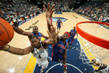 Detroit Pistons v Memphis Grizzlies: Sam Young, Ben Wallace and Jason Maxiell Photographic Print by Joe Murphy