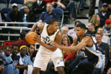Memphis Grizzlies v Utah Jazz: C.J. Miles and Rudy Gay Photographic Print by Melissa Majchrzak