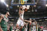Milwaukee Bucks v Utah Jazz: Andrei Kirilenko and Jon Brockman Photographic Print by Melissa Majchrzak