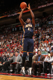 Indiana Pacers v Miami Heat: James Posey Fotografisk tryk af Victor Baldizon