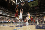 Cleveland Cavaliers v Indiana Pacers: Jamario Moon and Josh McRoberts Photographic Print by Ron Hoskins