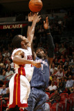 Charlotte Bobcats v Miami Heat: Stephen Jackson and James Jones Photographic Print by Issac Baldizon