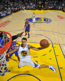 New York Knicks v Golden State Warriors: Stephen Curry Fotografisk trykk av Rocky Widner