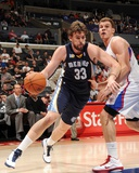 Memphis Grizzlies v Los Angeles Clippers: Marc Gasol and Blake Griffin Photographic Print by Noah Graham