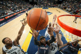 Charlotte Bobcats v Memphis Grizzlies: Stephen Jackson, Xavier Henry and Marc Gasol Photographic Print by Joe Murphy