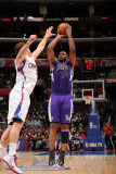 Sacramento Kings v Los Angeles Clippers: Carl Landry and Blake Griffin Photographic Print by Noah Graham