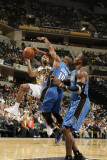 Orlando Magic v Indiana Pacers: A. J. Price, Jameer Nelson and Dwight Howard Photographie par Ron Hoskins
