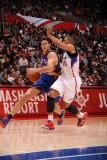 New York Knicks v Los Angeles Clippers: Danilo Gallinari and Eric Gordon Photographic Print by Noah Graham