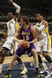 Los Angeles Lakers v Indiana Pacers: Pau Gasol, Danny Granger and Roy Hibbert Photographie par Ron Hoskins