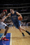 Minnesota Timberwolves v Dallas Mavericks: Darko Milicic and Brendan Haywood Photographic Print by Glenn James