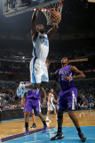 Sacramento Kings v New Orleans Hornets: Emeka Okafor and Jason Thompson Photographic Print by Layne Murdoch