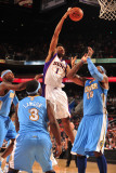 Denver Nuggets v Phoenix Suns: Josh Childress and Carmelo Anthony Photographic Print by Barry Gossage