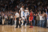 Chicago Bulls v Denver Nuggets: Carmelo Anthony and J.R. Smith Photographic Print by Garrett Ellwood