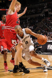 Chicago Bulls v San Antonio Spurs: Tony Parker and Brian Scalabrine Photographic Print by D. Clarke Evans