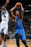 Oklahoma City Thunder v Minnesota Timberwolves: Thabo Sefolosha and Wesley Johnson Photographic Print by David Sherman