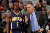 Indiana Pacers v Sacramento Kings: Jim O'Brien and Darren Collison Photographic Print by Rocky Widner
